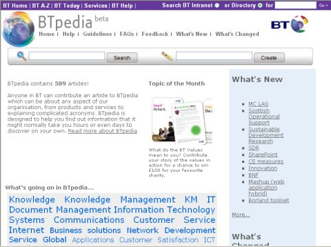 BTpedia homepage Oct 07